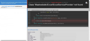 Class 'Maatwebsite\Excel\ExcelServiceProvider' not found.
